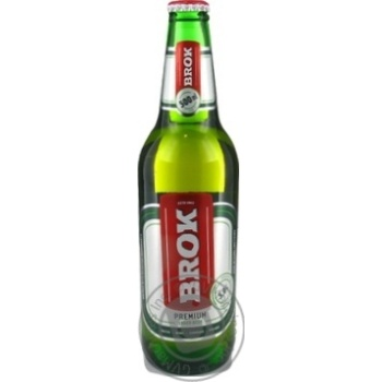 Beer Brok Private import pasteurized 5.2% 500ml glass bottle