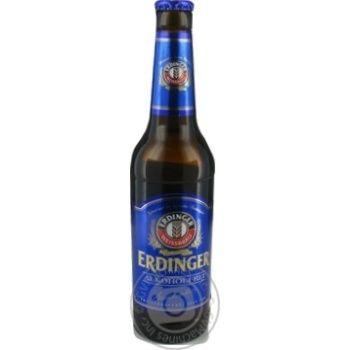 Malt non-alcoholic lager Erdinger glass bottle 330ml Germany