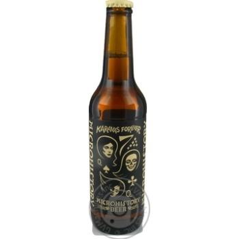 Пиво Microhistory Karavas Forever полутемное 5,4% 0,33л - купить, цены на Novus - фото 1