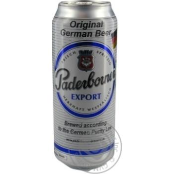 Пиво Paderborner Export светлое ж/б, 5,5%, 0,5л
