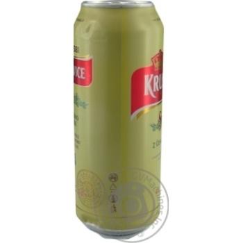 Пиво Krusovice Svetle светлое ж/б 4,2% 0,5л - купить, цены на Novus - фото 2