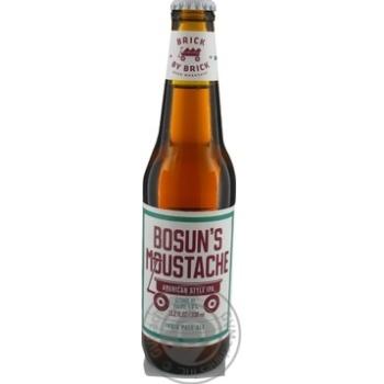 Пиво світле Brick by Brick Bosun's Moustache Raudonu plytu cкл/пл 6% 0,33л