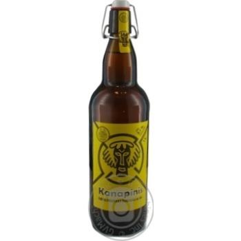 Пиво 1л 5,1% світле нефільтроване неосвітлене пастеризоване Kanapinis
