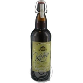 Пиво 1л 5,7% темне нефільтроване неосвітлене пастеризоване Keptinis