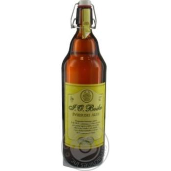 Пиво 1л 5% світле нефільтроване неосвітлене пастеризоване I.O. Boiko