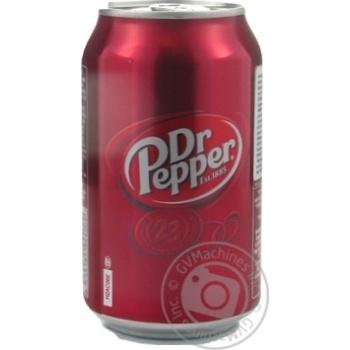 Напиток Dr Pepper газированный ж/б 0,33л