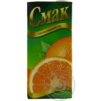 Сок Смак апельсиновый восстановленный тетрапакет 1000мл Украина - купить, цены на Novus - фото 1