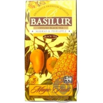 Чай Басилур Экзотик манго черное рассыпной 100г картонная упаковка
