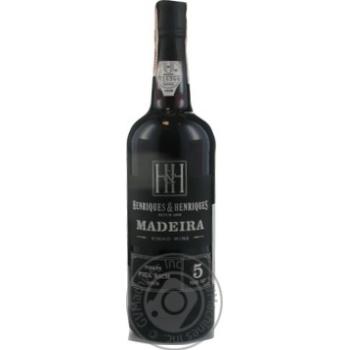 Вино Henriques & Henriques Finest Full Rich Madeira 5 лет красное сладкое 19%0,75л - купить, цены на Novus - фото 1