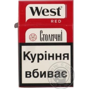 Сигареты Stolychni West Red - купить, цены на Фуршет - фото 4