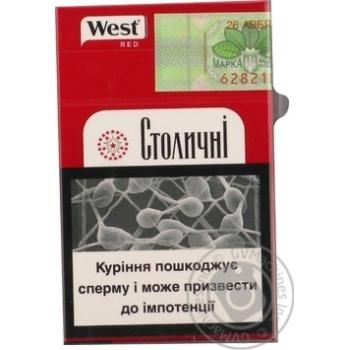 Сигареты Stolychni West Red - купить, цены на Фуршет - фото 3