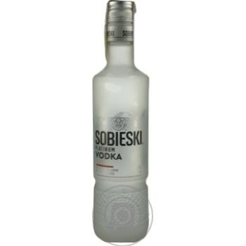 Горілка 0,5л 40% Sobieski platinum