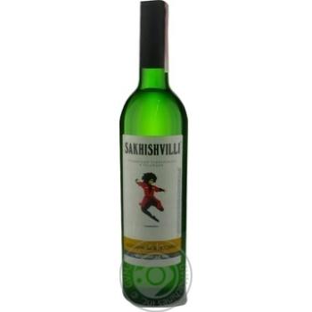 Вино Sakhishvilli Алазанская долина белое полусладкое 9-13% 0,75л