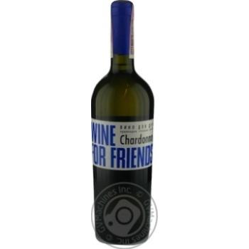 Wine For Friends Chardonnay White Semi Sweet Wine 9-13% 0.75l
