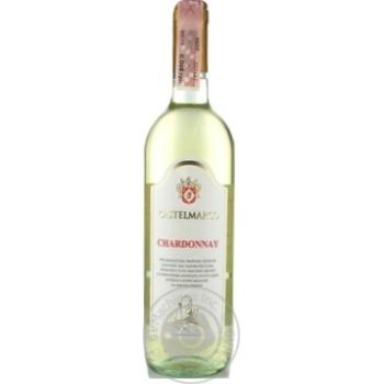 Вино Castelmarco Chardonnay белое сухое 12% 0,75л