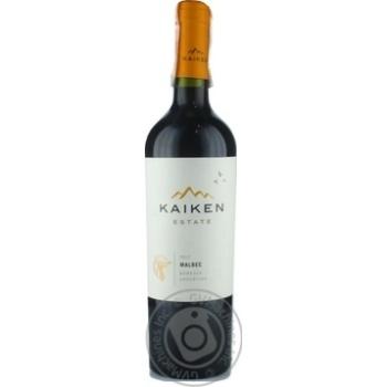 Kaiken Malbec Wine red dry 13.5% 0.75l - buy, prices for CityMarket - photo 1