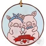 Панно Закохані свинки