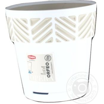 Горщик OPERA Orfeo 15 x 15 cm білий травертин арт. 94450 - купить, цены на МегаМаркет - фото 1