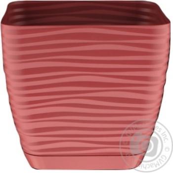 Form-Plastic Sahara Mini Marsala Square Flowerpot 15cm 2l - buy, prices for MegaMarket - photo 1