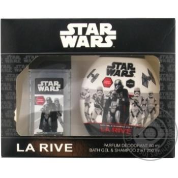Набір подарунковий дитячий Star Wars First Order (парфумована вода 50 мл + гель для душу 200 мл) La Rive - купить, цены на Novus - фото 1