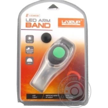 Браслет-пiдсвiтка для бiгу LiveUP LS3408, Uni, Green, 1шт