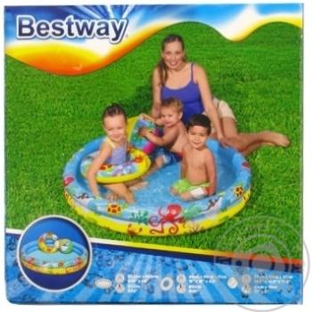 Набір:басейн надувний+коло+м'яч 122*20см 137л - купити, ціни на Novus - фото 1