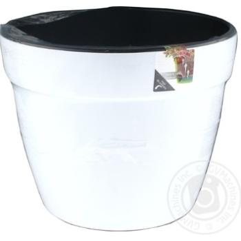 Santino Asti White-Black Flowerpot 2,5l