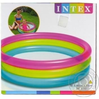 Бассейн надувной Intex 86*25см