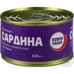 Сардина Повна Чаша атлантическая в томатном соусе 240г