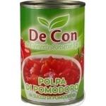 Томаты De Clemente резаные очищенные в томат.соку 400г