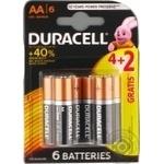 Батарейки DURACELL Basic AA алкаліновi 1.5V LR6 4+2шт