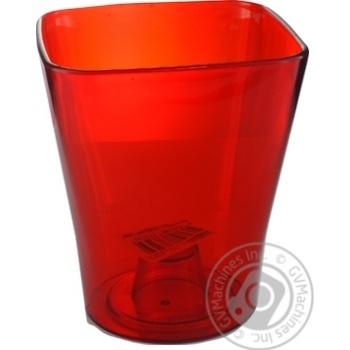 Кашпо Квадро пластикове червоне для орхідеї