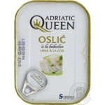 Fish hake Adriatic queen in oil 105g can