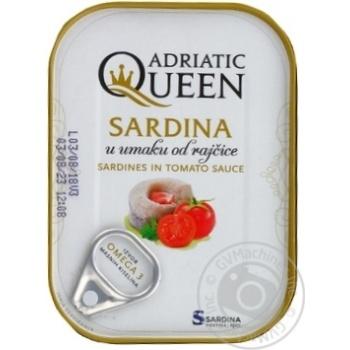 Сардины Adriatic Queen в томатном соусе 105г