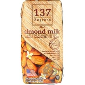 Скидка на Миндальное молоко 137 degrees оригинальное ультрапастеризованное 180мл