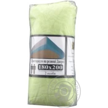 Простирадло на резинці Джерсі 180*200+20см зелений - купить, цены на МегаМаркет - фото 1
