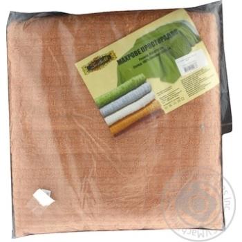 Простыня Ваш текстиль махровая хлопок 150х210см шт
