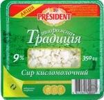 Сыр President Творожная традиция 9% 350г