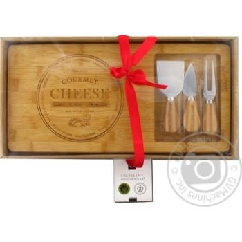 Набор Доска для сыра + ножи 3шт