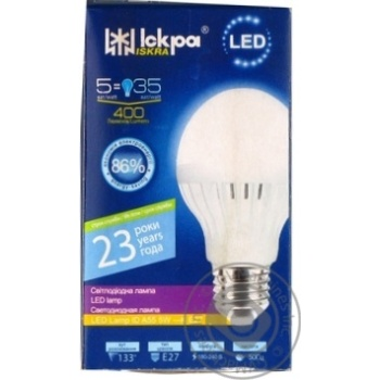 Лампа LED LampID Іскра A55 220В 5Вт 3000K E27 - купить, цены на Novus - фото 1