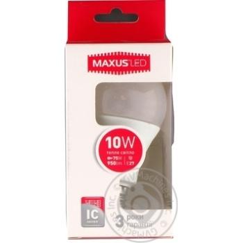 Лампа світлодіодна Maxus A60 10W 3000K 220V E27
