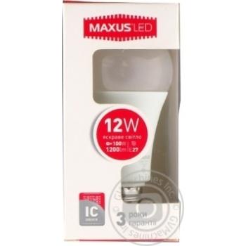 Лампа світлодіодна Maxus A65 12W 4100K 220V E27