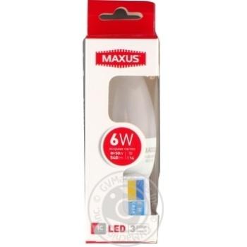 Лампа світлодіодна Maxus C37 CL-F 6W 4100K 220V E14