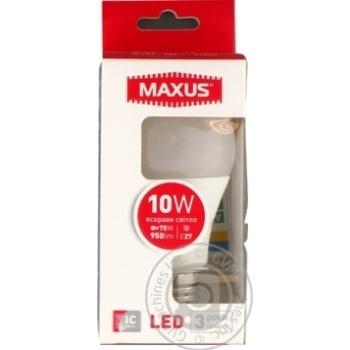 Лампа світлодіодна Maxus A60 10W 4100K 220V E27