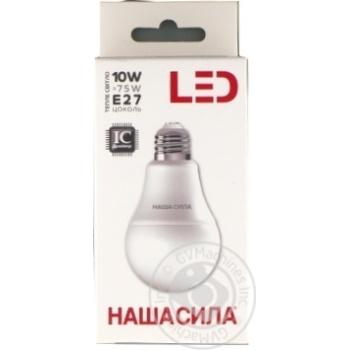Лампа світлодіодна лс Наша сила LED A60 E27 10W 3000K