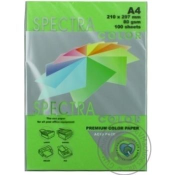 Бумага Spectra Color цветная А4 100 листов 80г/м2