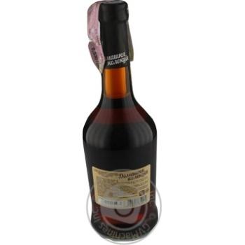 Напиток сброженный Домашняя Коллекция Ежевика крепкий сладкий розовый 12% 0,5л - купить, цены на Novus - фото 2