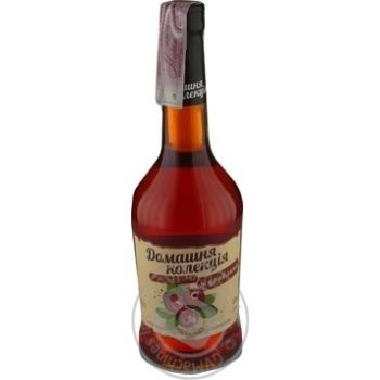 Home Collection Cranberry strong sweet pink fermented drink 12% 0.5l