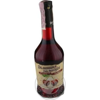 Напиток сброженный Домашня Колекция Вишня крепкий сладкий розовый 12% 0,5л