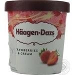 Мороженое Haagen-Dazs с клубникой и сливками ведро 400гр